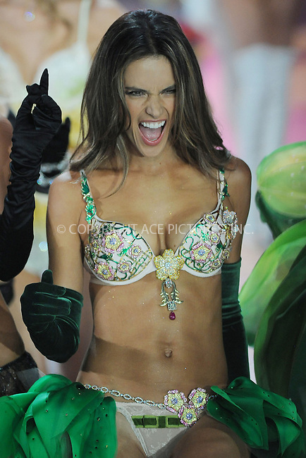 WWW.ACEPIXS.COM . . . . . .November 7, 2012...New York City....Alessandra Ambrosio walks the runway wearing the  Floral Fantasy Bra designed by London Jewelers, valued at $2.5 million, during the 2012 Victoria's Secret Fashion Show at the Lexington Avenue Armory on November 7, 2012 in New York City ....Please byline: KRISTIN CALLAHAN - ACEPIXS.COM.. . . . . . ..Ace Pictures, Inc: ..tel: (212) 243 8787 or (646) 769 0430..e-mail: info@acepixs.com..web: http://www.acepixs.com .