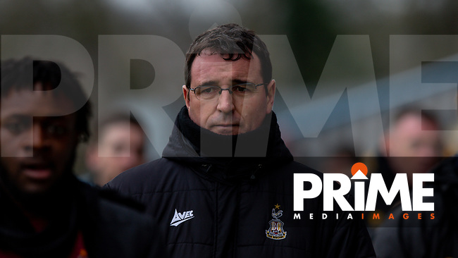 Bradford City manager Gary Bowyer during the Sky Bet League 2 match between Mansfield Town and Bradford City at the One Call Stadium, Mansfield, England on 25 January 2020. Photo by Thomas Gadd.