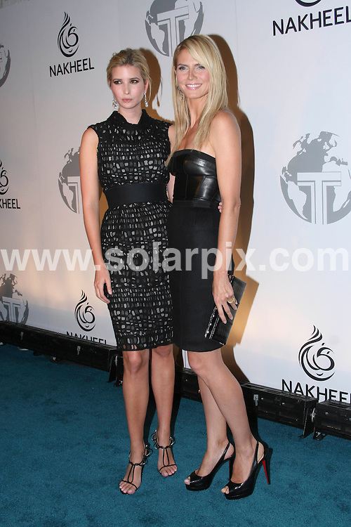 **ALL ROUND PICTURES FROM SOLARPIX.COM**.**SYNDICATION RIGHTS FOR UK, SPAIN, PORTUGAL, AUSTRALIA, S.AFRICA & DUBAI (U.A.E) ONLY**.Melania Trump, Donald Trump and Ivanka Trump  Nakheel Launches Trump International Hotel and Tower Dubai at the Park Avenue Plaza in New York in the USA. .This pic:Ivanka Trump and Heidi Klum..JOB REF:6713-PHZ /Wild1                 DATE:23_06_08 .**MUST CREDIT SOLARPIX.COM OR DOUBLE FEE WILL BE CHARGED* *UNDER NO CIRCUMSTANCES IS THIS IMAGE TO BE REPRODUCED FOR ANY ONLINE EDITION WITHOUT PRIOR PERMISSION*
