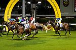 #11 Jockey Jack Wong Ho-nam (C) riding Good For You during the Hong Kong Racing at Happy Valley Race Course on June 13, 2018 in Hong Kong, Hong Kong. Photo by Marcio Rodrigo Machado / Power Sport Images