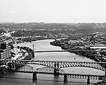 Black & White view up the Monongahela from Mt Washington