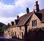 A01XEB Old cottages Castle Combe Wiltshire England