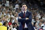 FC Barcelona's coach Xavi Pascual during Liga Endesa ACB 2nd Final Match.June 21,2015. (ALTERPHOTOS/Acero)