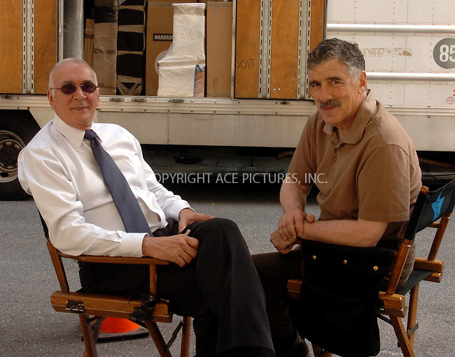WWW.ACEPIXS.COM . . . . .  ....June 29 2007, New York City....EXCLUSIVE TO ACE PICTURES - ALL ROUNDER....Actors Frank Langella and Elliot Gould were on the set of their latest movie 'On the Hook' on the Upper West Side of Manhattan.....Please byline: AJ Sokalner - ACEPIXS.COM..... *** ***..Ace Pictures, Inc:  ..te: (646) 769 0430..e-mail: info@acepixs.com..web: http://www.acepixs.com
