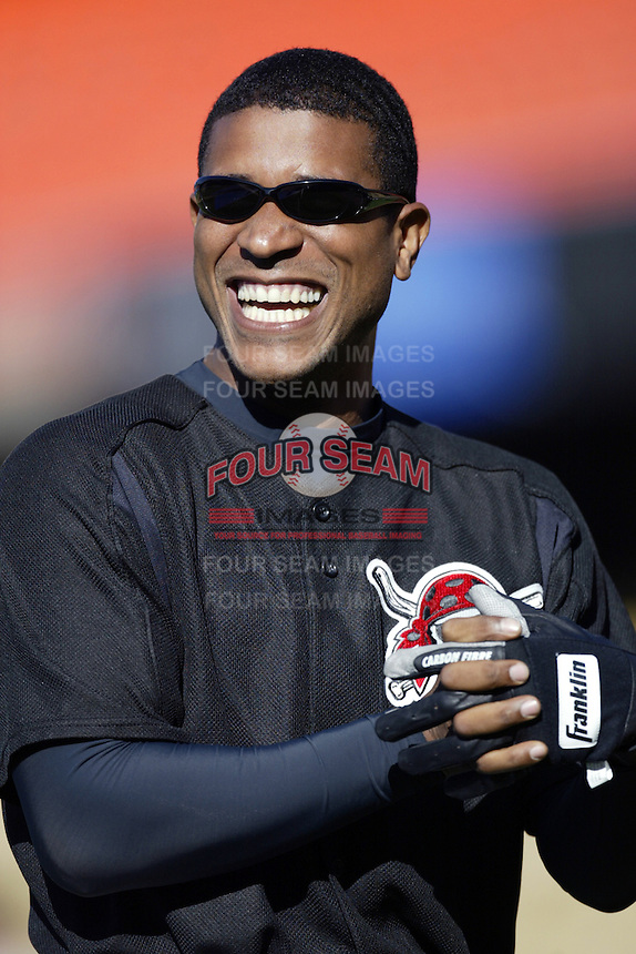 Josias Manzanillo of the Pittsburgh Pirates before a 2002 MLB season game against the Los Angeles Dodgers at Dodger Stadium, in Los Angeles, California. (Larry Goren/Four Seam Images)