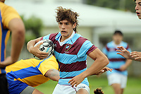 Action from the rugby match between Rongotai College and Club Atletico del Rosario at Evan's Bay Park in Wellington, New Zealand on Wednesday, 28 February 2018. Photo: Dave Lintott / lintottphoto.co.nz