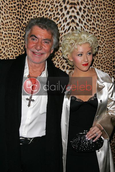 Christina Aguilera and Roberto Cavalli