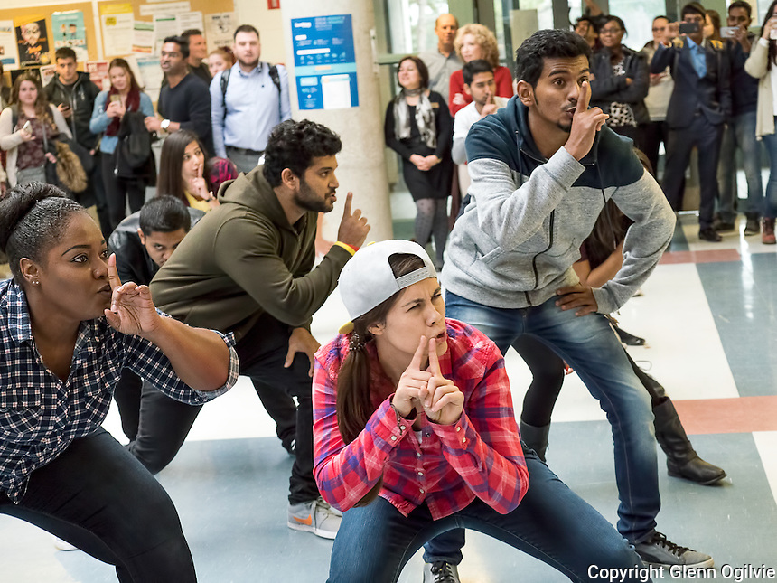 A flash mob dance was held by Lambton College students to honour 60 Mexican students who are graduating and returning home DEC. 9.