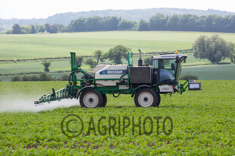 A contractor spraying sugar beet<br /> &copy;Tim Scrivener Photographer 07850 303986<br /> ....Covering Agriculture In The UK....