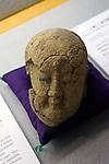 Photo shows the head of a jizo statue of which writer Lafcadio Hearn was particularly fond at a museum dedicated to the writer in Matsue, Shimane Prefecture, Japan on 05 Nov. 2012. Photographer: Robert Gilhooly.