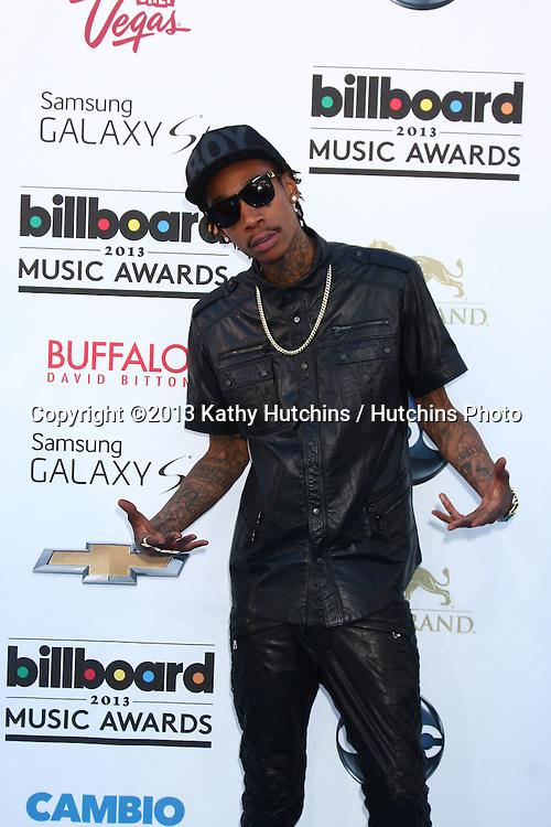 LOS ANGELES -  MAY 19:  Wiz Khalifa arrives at the Billboard Music Awards 2013 at the MGM Grand Garden Arena on May 19, 2013 in Las Vegas, NV