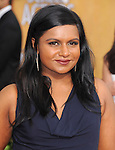 Mindy Kaling attends The 20th SAG Awards held at The Shrine Auditorium in Los Angeles, California on January 18,2014                                                                               © 2014 Hollywood Press Agency