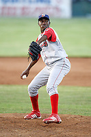 June 22, 2009:  Pitcher Reginal Simon of the Williamsport Crosscutters during a game at Dwyer Stadium in Batavia, NY.  The Crosscutters are the NY-Penn League Short-Season Single-A affiliate of the Philadelphia Phillies.  Photo by:  Mike Janes/Four Seam Images