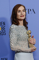 www.acepixs.com<br /> <br /> January 8 2017, LA<br /> <br /> Isabelle Huppert appeared in the press room during the 74th Annual Golden Globe Awards at The Beverly Hilton Hotel on January 8, 2017 in Beverly Hills, California.<br /> <br /> By Line: Famous/ACE Pictures<br /> <br /> <br /> ACE Pictures Inc<br /> Tel: 6467670430<br /> Email: info@acepixs.com<br /> www.acepixs.com