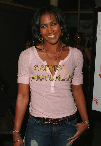 "TERRI J. VAUGHN.""I Think I Love My Wife"" Los Angeles Premiere held at ArcLight Cinemas, Hollywood, California, USA..March 7th, 2007.half length pink top.CAP/ADM/CH.©Charles Harris/AdMedia/Capital Pictures"