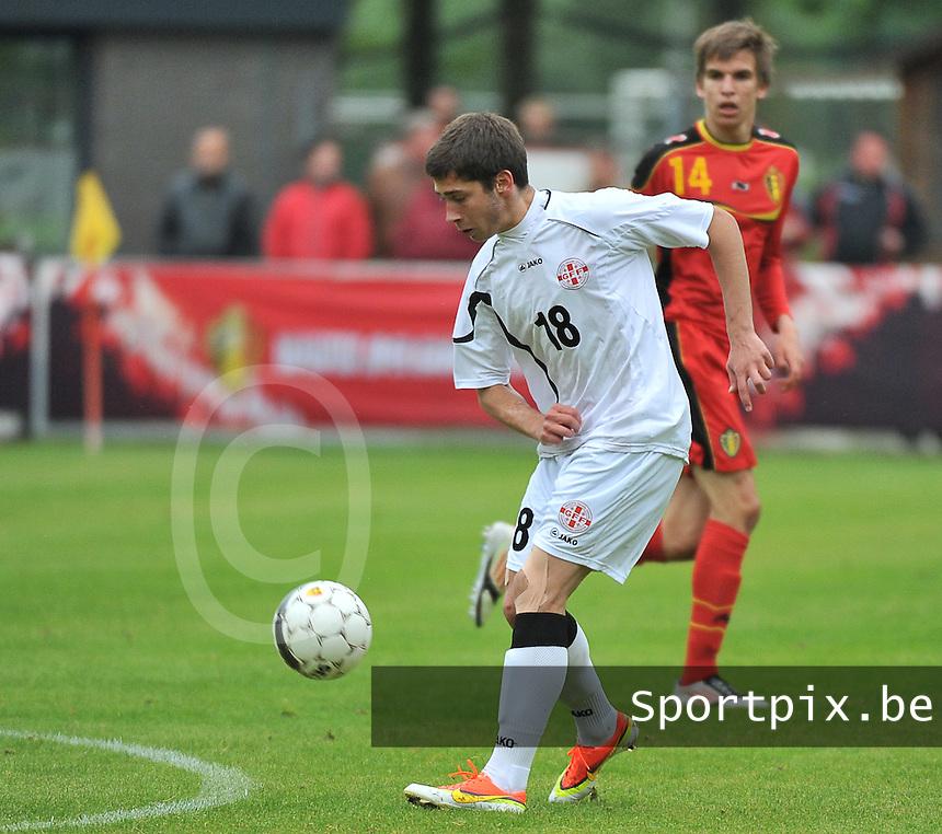 Georgia U19 - Belgium U19 : Luka Zarandia<br /> foto DAVID CATRY / Nikonpro.be