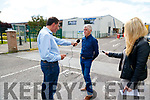 Members of the press interviewing Gerard Treanor who works as a toolmaker at the Borg Warner plant in Tralee.