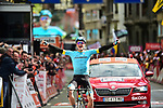 Jakob Fuglsang (DEN) Astana Pro Team wins the 105th edition of Liège-Bastogne-Liège 2019, La Doyenne, running 256km from Liege to Liege, Belgium. 28th April 2019<br /> Picture: Arne Mill | Cyclefile<br /> All photos usage must carry mandatory copyright credit (© Cyclefile | Arne Mill)