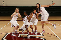 STANFORD, CA - OCTOBER 9:  Lindy La Rocque, Nneka Ogwumike, Grace Mashore, and Sarah Boothe of the Stanford Cardinal during picture day on October 9, 2008 at Maples Pavilion in Stanford, California.