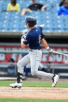Jackson Lueck (8) of Orangewood Christian High School in Longwood, Florida playing for the Tampa Bay Rays scout team during the East Coast Pro Showcase on July 31, 2014 at NBT Bank Stadium in Syracuse, New York.  (Mike Janes/Four Seam Images)
