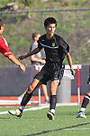Palos Verdes, CA 02/03/12 - Tony Bumatay (Peninsula #5) in action during the Peninsula vs Palos Verdes boys varsity soccer game.