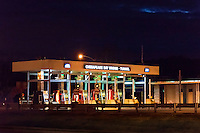 Chesapeake Bay Bridge Tunnel toll booth, Cape Charles, Virginia, USA
