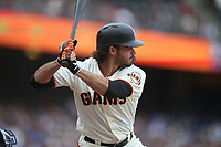 SAN FRANCISCO, CA - SEPTEMBER 29:  Aramis Garcia #16 of the San Francisco Giants bats against the Los Angeles Dodgers during the game at AT&T Park on Saturday, September  29, 2018 in San Francisco, California. (Photo by Brad Mangin)