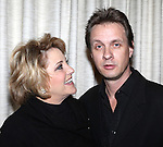 "Lorna Luft with husband Colin Freeman attending the press reception for ""Songs My Mother Taught Me: The Judy Garland Songbook"" at Feinsteins in New York City."