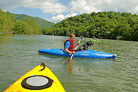 Exploring Watauga Lake in eastern Tennessee.
