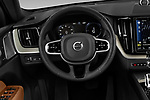 Car pictures of steering wheel view of a 2018 Volvo XC60 Inscription T8 eAWD Plug-in Hybrid 5 Door SUV