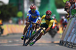 (L-R) DEMENTYEV Yehor Dementyev (UKR), Alistair Donohoe (AUS), <br /> SEPTEMBER 17, 2016 - Cycling - Road : <br /> Men's Road Race C4-5 <br /> at Pontal <br /> during the Rio 2016 Paralympic Games in Rio de Janeiro, Brazil.<br /> (Photo by AFLO SPORT)