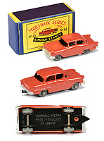 BNPS.co.uk (01202 558833)<br /> Pic: Vectis/BNPS<br /> <br /> Pictured: Matchbox Regular Wheels 45a Vauxhall Victor<br /> <br /> One man's vast collection of model cars amassed over a lifetime has sold at auction for an incredible £250,000.<br /> <br /> Simon Hope, 68, has been collecting matchbox models since he was a small child and has bought over 4,000 over the past six decades.<br /> <br /> His hobby has cost him thousands of pounds and at and engulfed a huge slice of his life but he has now decided to part with the toys