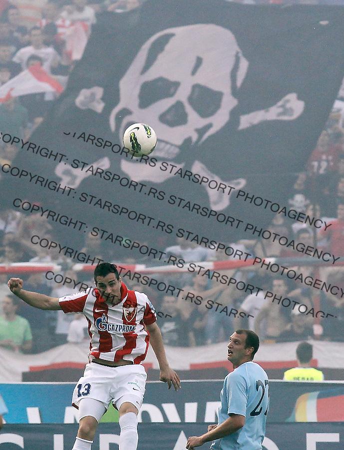 Fudbal, Jelen super liga, sezona 2011/12.Crvena Zvezda VS. Rad.Nikola Maksimovic, left.Belgrade, 12.05.2012..foto: Srdjan Stevanovic/Starsportphoto ©