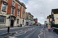Pictured: Church Street, Llanelli. Wednesday 09 March 2018<br /> Re: The effect that the Scarlets RFC has had in the town of Llanelli in Carmarthenshire and the west Wales region.