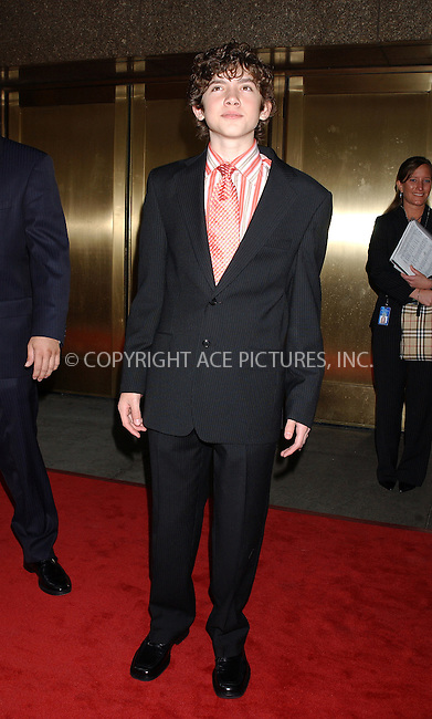 WWW.ACEPIXS.COM . . . . . ....NEW YORK, MAY 16, 2005....Carter Jenkins at the NBC Primetime Preview red carpet arrivals for Upfront Week held at Radio City Music Hall.....Please byline: KRISTIN CALLAHAN - ACE PICTURES.. . . . . . ..Ace Pictures, Inc:  ..Craig Ashby (212) 243-8787..e-mail: picturedesk@acepixs.com..web: http://www.acepixs.com