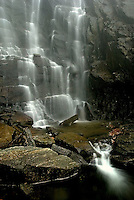 The Chimney Rock waterfall in the North Carolina mountains.