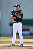 Erie SeaWolves pitcher Kyle Ryan (23) looks in for the sign during a game against the Akron RubberDucks on May 17, 2014 at Jerry Uht Park in Erie, Pennsylvania.  Erie defeated Akron 2-1.  (Mike Janes/Four Seam Images)