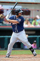 New Hampshire Fisher Cats outfielder Brad Glenn #44 during a game against the Erie Seawolves on June 9, 2013 at Jerry Uht Park in Erie, Pennsylvania.  New Hampshire defeated Erie 3-2.  (Mike Janes/Four Seam Images)