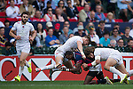 United States vs England during the HSBC Sevens Wold Series match of the Cathay Pacific / HSBC Hong Kong Sevens at the Hong Kong Stadium on 28 March 2015 in Hong Kong, China. Photo by Xaume Olleros / Power Sport Images
