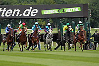 15th May 2020, Muenchen-Riem racecourse, Munich, Germany. Flat racing;  The horse leaves the Starting gates