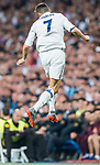 Cristiano Ronaldo of Real Madrid heads the ball during their 2016-17 UEFA Champions League Semifinals 1st leg match between Real Madrid and Atletico de Madrid at the Estadio Santiago Bernabeu on 02 May 2017 in Madrid, Spain. Photo by Diego Gonzalez Souto / Power Sport Images