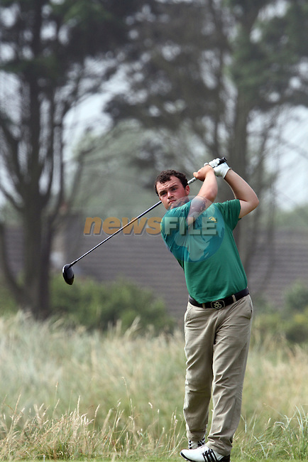 Jordan Hood (IRL) on the 4th at the 2012 Boys Home Internationals at Co.Louth Golf Club in Baltray, Co.Louth...(Photo credit should read Jenny Matthews/NEWSFILE)...