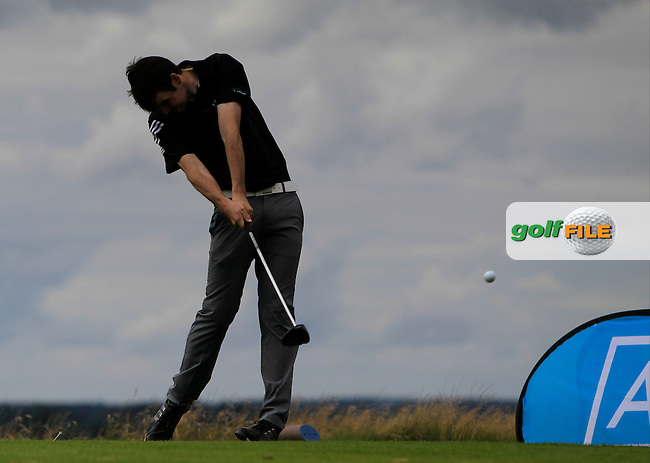 Jake Whelan (MU) on the 10th tee during the Final of the AIG Senior Cup at the AIG Cups &amp; Shields National Finals in Carton House, Maynooth, Co. Kildare on the 19/09/15.<br /> Picture: Thos Caffrey | Golffile