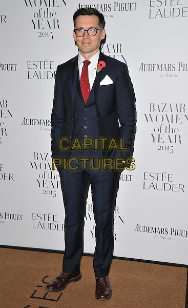 Erdem Moralioglu attends the Harper's Bazaar Women of the Year Awards 2015, Claridge's Hotel, Brook Street, London, England, UK, on Tuesday 03 November 2015. <br /> CAP/CAN<br /> &copy;CAN/Capital Pictures