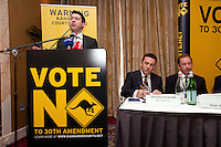 NO REPRO FEE. VOTE NO TO THE 30TH AMENDMENT.   Senator Ronán Mullen is pictured at the Official launch of the 'NO' Campaign at the The Westbury Hotel, Dubliin. Picture James Horan/Collins.