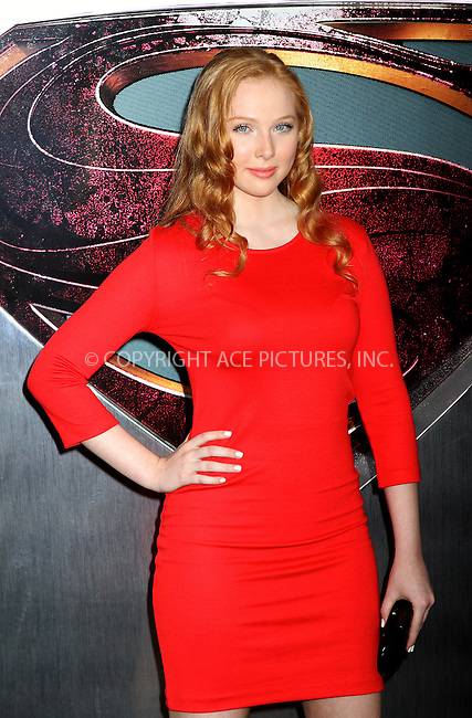 WWW.ACEPIXS.COM<br /> <br /> June 10, 2013...New York City<br /> <br /> Molly C. Quinn arriving at the World Premiere of 'Man of Steel' at Alice Tully Hall on June 10, 2013 in New York City.<br /> <br /> By Line: Nancy Rivera/ACE Pictures<br /> <br /> <br /> ACE Pictures, Inc.<br /> tel: 646 769 0430<br /> Email: info@acepixs.com<br /> www.acepixs.com