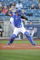 Tulsa Drillers catcher Keibert Ruiz (25) in action against the Corpus Christi Hooks at Oneok Stadium on May 4, 2019 in Tulsa, Oklahoma.  The Hooks won 9-7.  (Dennis Hubbard/Four Seam Images)