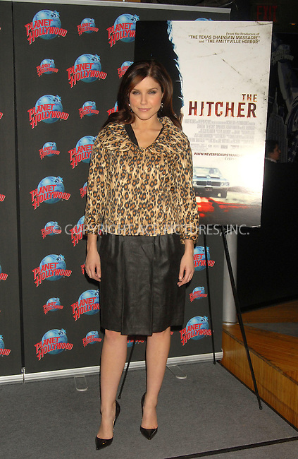 WWW.ACEPIXS.COM . . . . . ....January 17, 2007, New York City. ....Sophia Bush attends a Photocall at Planet Hollywood Times Square to Promote her Latest Movie 'The HItcher'. ....Please byline: KRISTIN CALLAHAN - ACEPIXS.COM.. . . . . . ..Ace Pictures, Inc:  ..(212) 243-8787 or (646) 769 0430..e-mail: info@acepixs.com..web: http://www.acepixs.com