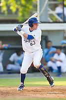Ryan Dale (63) of the Burlington Royals at bat against the Greeneville Astros at Burlington Athletic Park on June 29, 2014 in Burlington, North Carolina.  The Royals defeated the Astros 11-0. (Brian Westerholt/Four Seam Images)