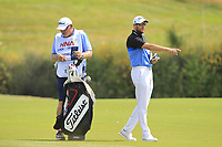 Matthew Southgate (ENG) on the 1st fairway during Round 4 of the HNA Open De France at Le Golf National in Saint-Quentin-En-Yvelines, Paris, France on Sunday 1st July 2018.<br /> Picture:  Thos Caffrey | Golffile